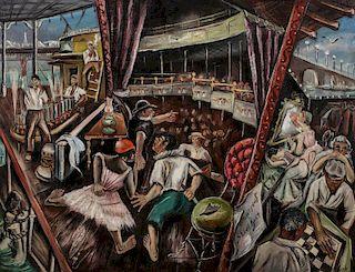 JOSEPH VORST (1897-1947) OIL ON LINEN AND BOARD