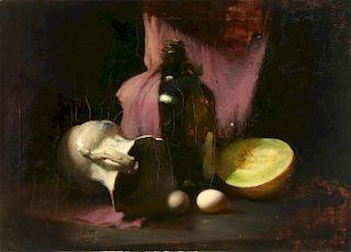 DAVID LEFFEL (BORN 1931) OIL ON CANVAS