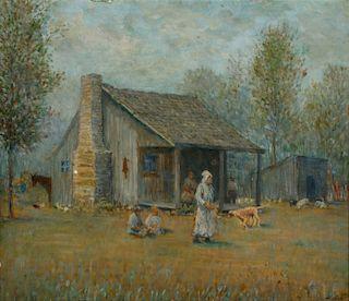 GEORGE VAN MILLET (1864 - 1953) OIL ON CANVASBOARD