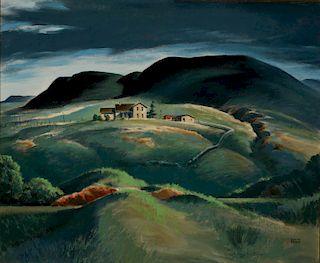 LLOYD CHESTER FOLTZ (1897-1990) OIL ON CANVASBOARD