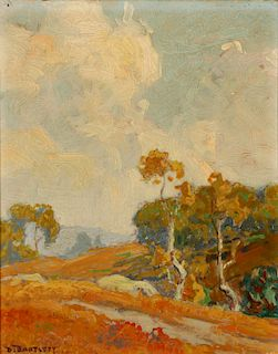 DANA BARTLETT (CALIFORNIA 1882-1957) OIL ON BOARD
