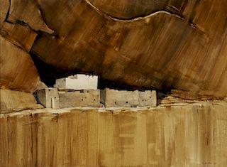MORRIS RIPPEL (1930-2009) WATERCOLOR ON PAPER