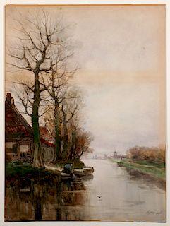 CHARLES PAUL GRUPPE (1860-1940) WATERCOLOR