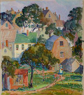 ILAH KIBBEY (1888-1958) WATERCOLOR AND GOUACHE
