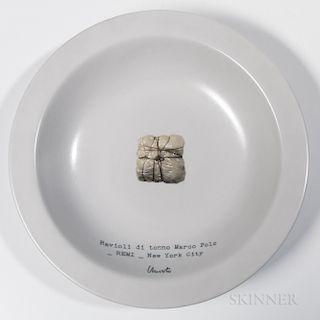 "After Christo and Jeanne-Claude ""Ravioli di Tonno Marco Pollo"" Shallow Bowl"