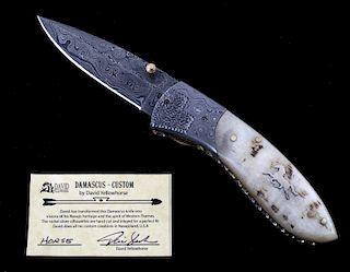 Navajo Dave Yellowhorse Damascus Horse Knife