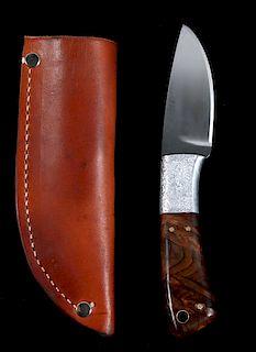 Gerome Weinand Skinner Moose Burl Red Wood Handle