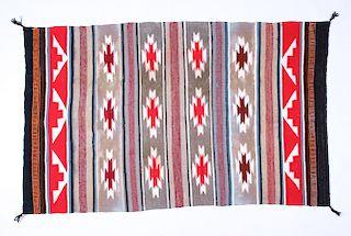 Navajo Squash Blossom & Banded Wide Ruins Rug