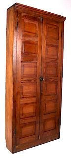 Early Oak Hotel Mailbox & Key Cabinet from Butte