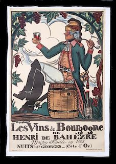 Vins De Bourgogne by Guy Arnoux Original Poster