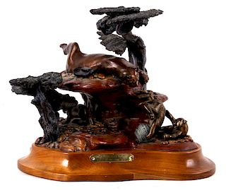 """""""Heads I Win, Tails You Lose"""" Bronze by Don Stone"""