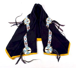 Sioux Beaded Wearing Blanket circa 1950
