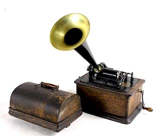 Antique Edison 30 Cylinder Phonograph