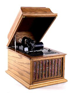 Antique Edison Amberola 30 Cylinder Phonograph