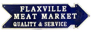 Early 20th Century Flaxville Meat Market MT. Sign