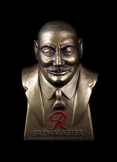 Rainier Beer Brewmaster Gold Bust