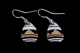 Tommy Singer Navajo 14k Gold Sterling Earrings