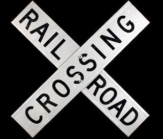 Aluminum Reflective Railroad Crossing Sign