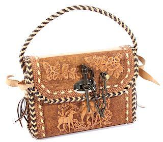 Custom Hand Tooled Leather Hand Bag