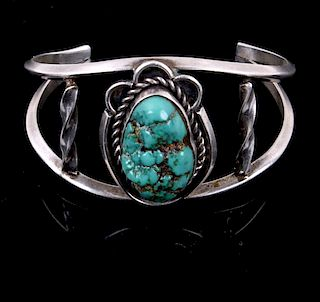 Navajo Old Pawn Red Mountain Turquoise Bracelet