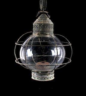 Antique Japanese Ship's Globe Lantern