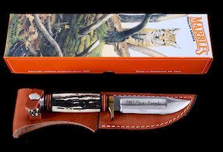 "Marble's 4.25"" Ideal 2002 Prototype Bone Knife"