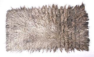 1950's Angora Goat Natural Fur Woolly Blanket