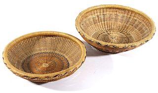 Yurok Native American Hand Woven Baskets