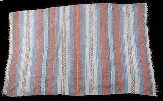 Hand Woven Mexican Serape Wool Blanket