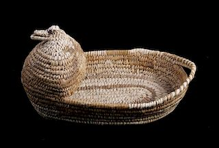 1950's Hand Woven Papago Indian Basket