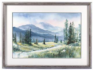 Original Mary Blain Watercolor Landscape Painting