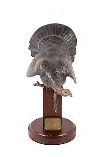 "Bronzed Metal ""Spring Ritual"" Turkey Sculpture"