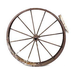 Antique Western Style Wagon Wheel