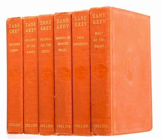 Collection Of Six Zane Grey Titles; Early Editions