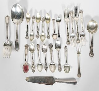 22 PCS Misc. American Sterling Flatware Group