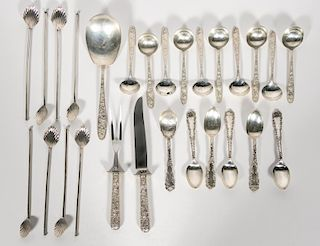 27 PCs Misc. Sterling Silver Flatware Group