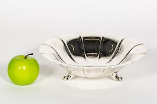 """Worden-Munnis Sterling Silver """"Dublin"""" Footed Bowl"""