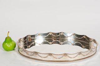 Neoclassical Style Silver Plate Tray