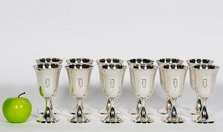 Set, Twelve Birks Sterling Silver Goblets