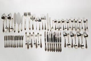 """Birks """"London Engraved"""" Flatware Set, 69 Pieces"""