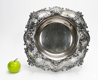 Tiffany & Co. Sterling Silver Repousse Centerpiece