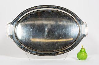 "Tiffany & Co. ""Hampton"" Large Sterling Silver Tray"