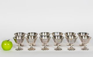 12 Wallace Sterling Silver Champagne/Sherbets