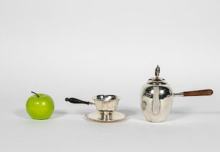 Silver Georg Jensen Warmer and Mexican Teapot