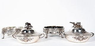 Pair, Christofle Silver Plate Covered Vegetables
