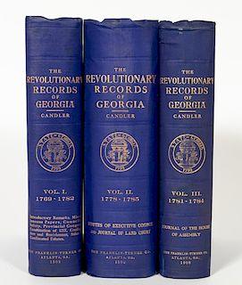 3 Volume Set, The Revolutionary Records of Georgia