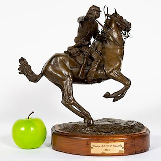 "L.P. McCann Bronze ""Union First U.S Calvary"""