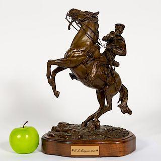 """L.P. McCann Bronze Sculpture """"U.S. Dragoon 1846"""""""