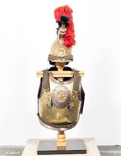 19th C. Carabiniers Trooper's Helmet &  Cuirasses