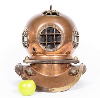 Large Reproduction Copper & Brass Diver's Helmet